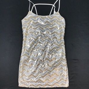 Shiny metallic Sequined dress